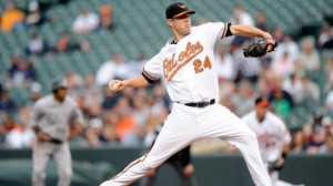 Chris Tillman and the orioles take on the Kansas City Royals in game one of the 2014 ALCS Friday in Baltimore.
