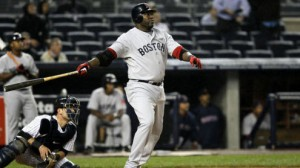 Boston Red Sox DH David Ortiz enters with a nine-game hitting streak