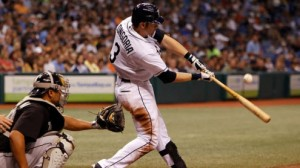 Tampa Bay Rays 3B Evan Longoria is starting to swing the bat better in August