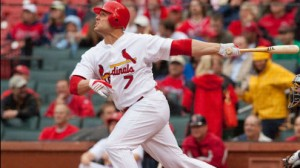 St. Louis Cardinals OF Matt Holliday has reached base safely in all 15 home games this season