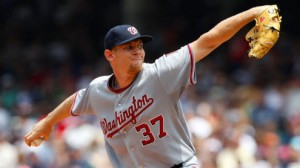 Washington Nationals SP Stephen Strasburg has struggled versus the Atlanta Braves