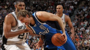 The Spurs and mavericks renew their rivalry in game three of the Western Conference quarterfinals Saturday in Dallas. The series is tied 1-1.