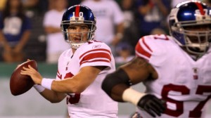 Eli and the Giants host the Bengals Monday night.