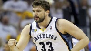Marc Gasol leads the Memphis Grizzlies in scoring and blocked shots.
