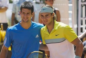 Rafael Nadal and Novak Djokovic meet for the U.S. Open title Monday in New York. Nadal is a slight favorite.