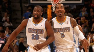 The Nuggets are 8 point favorites at home against the Warriors Tuesday night in game #2