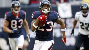 Houston Texans RB Arian Foster has carried a heavy load over the past three seasons