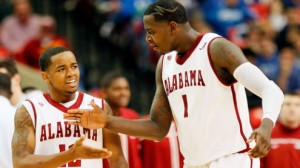 Alabama is a 4 point favorite at home against Maryland in the NIT quarterfinals Tuesday night.