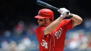 Washington Nationals OF Bryce Harper is expected to return Monday