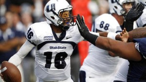 Utah State is a 6 point favorite at home against rival BYU Friday night.