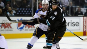 The Sharks and Blues meet in game three of the Western Conference Finals Thursday night.