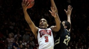 UNLV is a slight favorite against New Mexico in the MWC championship in Las Vegas.