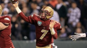Boston College QB Chase Rettig completed 23 of 30 passes for 285 yards and two touchdowns last week