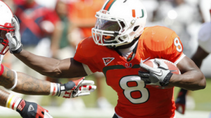 The Miami Hurricanes are 8-0 ATS when the line is between +3 to -3