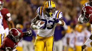 LSU is favored to beat Iowa in the Outback Bowl in Tampa Wednesday.