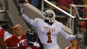 Texas is a 28 point favorite at home against Kansas Saturday.