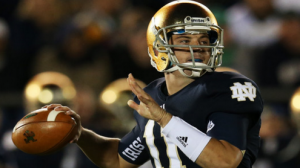 Notre Dame is a heavy favorite to beat Rutgers in the Pintstripe Bowl in Yankee Stadium Saturday.