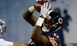 Alshon Jeffery leads the Bears with 670 receiving yards in 2016.