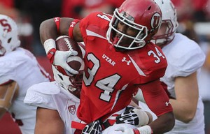 Bubba Poole has 199 yards and two (2) TDs on the season for #25 Utah.