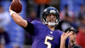 Baltimore Ravens QB Joe Flacco likes his new target in WR Steve Smith