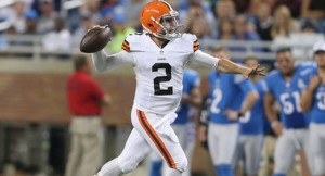 The Cleveland Browns have named Johnny Manziel their backup quarterback to start the 2014 regular season