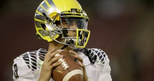 Marcus Mariota will look to lead 10-1 Oregon to its 11th win and an NCAA tournament victory.