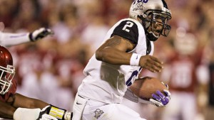TCU looks to remain in contention for a playoff spot as they travel to Texas Thanksgiving.  night