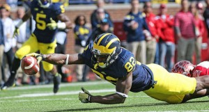 Amara Darboh has 499 receiving yards on the season for the No. 2 ranked Michigan Wolverines.