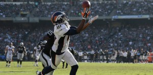 Emmanuel Sanders is averaging 14.6 yards per reception this year.