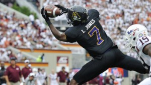 WR Isaiah Jones and the ECU Pirates will hope to turn the program around under first-year coach Scottie Montgomery.