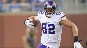 Kyle Rudolph leads the team in receiving TDs with three.