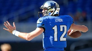 "Paxton Lynch stands 6'7"" and that only abets his strong owing arm."