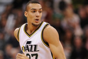 Rudy Gobert is averaging 10 points, 10 rebounds and two blocks per game this season.