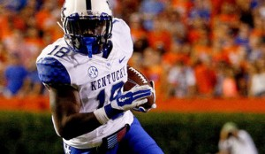 Boom Williams will lower the Boom this year for the Kentucky Wildcats who averaged 162.7 rushing yards per game in 2015.