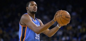 Kevin Durant is averaging 27 points per gam this year, but where will he be playing next year?
