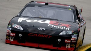 Denny Hamlin is a slight favorite to win the Camping World 301 at New Hampshire Sunday.