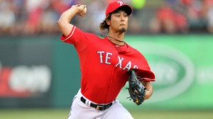 Texas Rangers SP Yu Darvish is 1-6 with a 4.32 ERA in his career against the Oakland Athletics