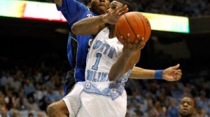 North Carolina is a 4.5 point favorite against Arkansas in the West Region Third round in Jacksonville.