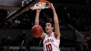 Indiana is a 5 point favorite against Syracuse in the east regional semifinal in Washington.