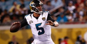 Blake Bortles and the Jags are still improving and is a 3-point favorite over Marcus Mariota and the Titans.