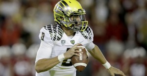 Oregon is a 5.5 point favorite against Ohio State in the first ever college football playoff championship game Monday.