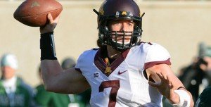 """6'4"""" senior QB Mitch Leidner and the Gophers passed for 214.8 yards per game in 2015."""