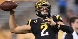 Arizona State takes on rival Arizona Saturday in Tempe. The Sun Devils need a win to become bowl eligible.